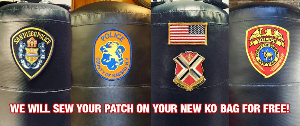 Your Patch Sewn on Your New KO Bag for Free!