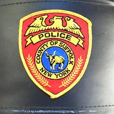 Suffolk County Police Department - Custom Patch Sewn on KO Fightgear Heavy Bag