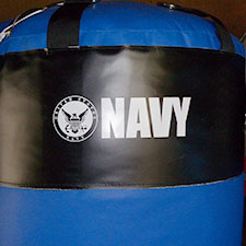 United States Navy Training Bootcamp Custom Heavy Bag Logo