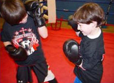 Joseph and Anthony Having Fun using their new KO Fightgear Sparring Gloves