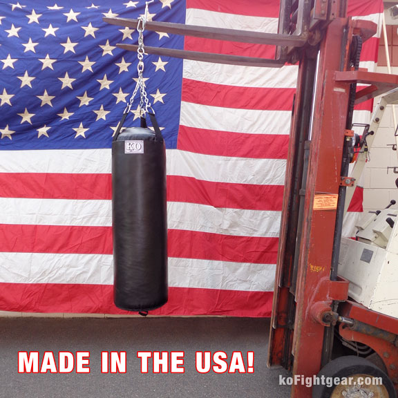 Youth Heavy Punching Bag - Detail - Multiple Angles - Front, Back, Top, Bottom, Side