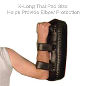 Extra Long Muay Thai Pads for Added Elbow Protection